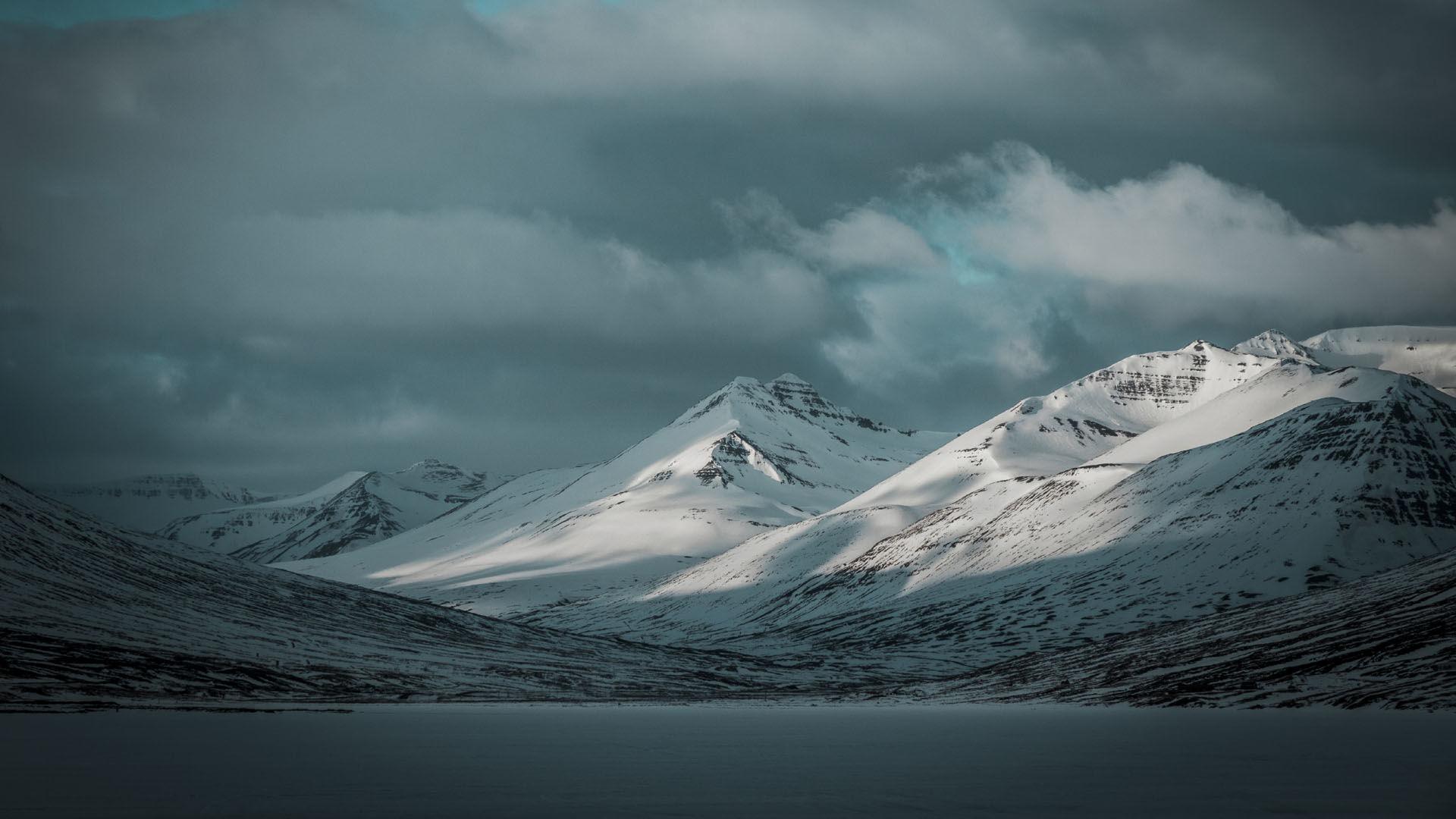 Blick Von Der Skitouren Lodge In Island